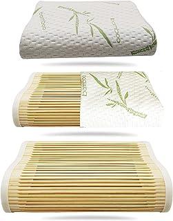 WASAHA Handmade Pure Natural Bamboo Pillow Correction Contour Pillow high and Low Dual use Four Seasons Pillow Summer Cool...
