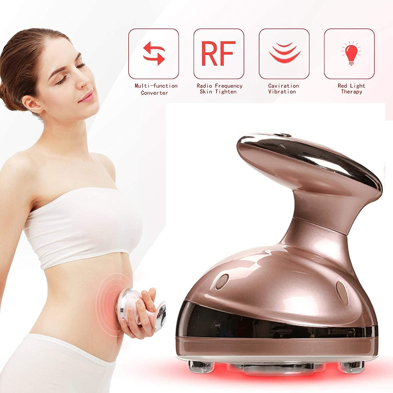 トランザクション水寮携帯用脂肪質は機械を取除き、あなたの足を形づけるために超音波RFシステムが付いているマッサージャーの再充電可能な頻度形成装置を形づける下腹部,Metallic