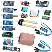 Organizer Sensor Modules Kit, 16 in 1 Arduino Raspberry Project Super Starter Kits for UNO R3 Mega2560 Mega328 Nano Raspberry Pi 4b 3 2 Model B K62