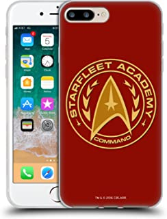 Official Star Trek Command Starfleet Academy Logos Soft Gel Case Compatible for iPhone 7 Plus/iPhone 8 Plus