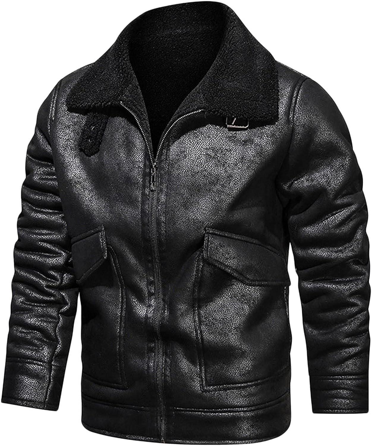 Men's Fleece Lined Business Lambskin Max 53% OFF Ranking TOP20 Blazer Jacket Leather Bombe