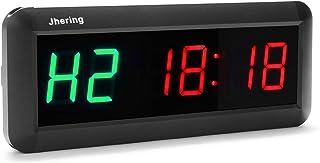 N/ A Jhering - Reloj de pared digital con 6 LED y temporizador de cuenta regresiva para gimnasio, fitness, hogar