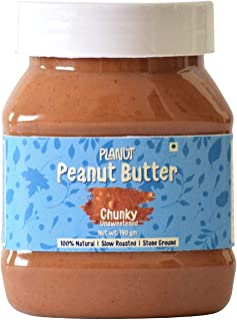 Planut Chemical Free Peanut Butter, Chunky, Unsweetened, 190g | All-natural, High Protein