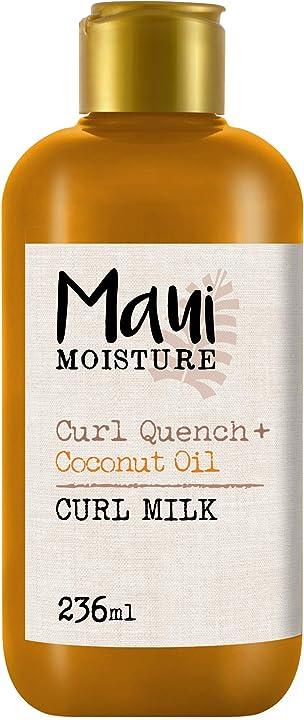 Latte per capelli crespi ricci 236 ml  maui moisture vegan olio di cocco aloe vera curl 6200800