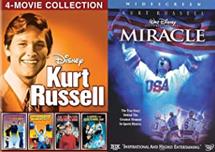 Computers Chemists Wacky Disney fun Kurt Russell 5 Movies Miracle on Ice Hockey Team + Strongest Man / Computer Wore Tennis Shoes / Now You See Him invisible Man / Horse in Gray Flannel Suit