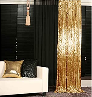 Best Sequin Curtains 2 Panels Gold 2FTx8FT Sequin Photo Backdrop Sequin Backdrop Curtain Pack of 2-1011E Review