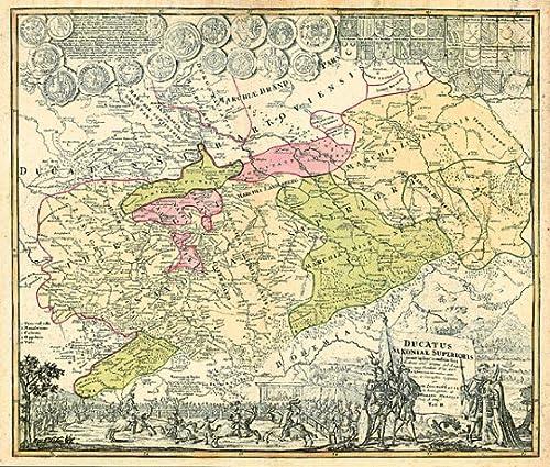 Historische Karte: Burgen-, Ritter- und Klosterkarte Thüringen und Sachsen 1000-1400. Tab. II - 1732 (Plano)