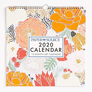 Paper Source 2020 12 Month Art Grid Calendar, 12