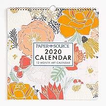 Paper Source 2020 12 Month Art Grid Calendar, 12