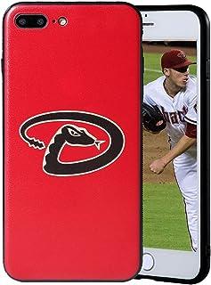 """Sportula MLB Phone Case Matching 2 Premium Screen Protectors Extra Value Set - for iPhone 7 Plus/iPhone 8 Plus (5.5"""") (Ari..."""