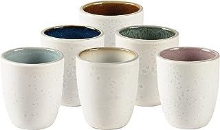 BITZ Lot de 6 tasses à expresso en grès 10 cl Passe au lave-vaisselle Crème mat