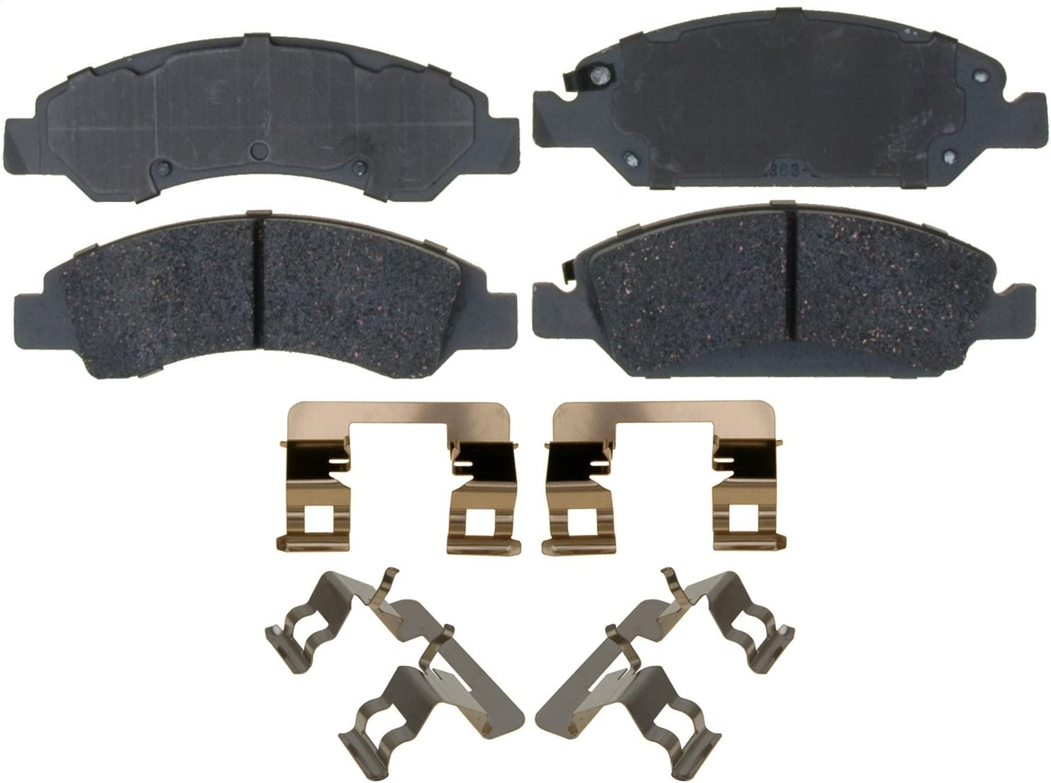 ACDelco latest Silver 14D1363CH Ceramic Front 2021new shipping free shipping Disc Set with Brake Pad H