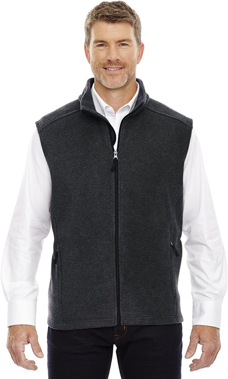 Ash City Core 365 Journey Men's Tall Zipper Fleece Vest