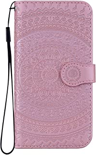 Reevermap Nokia 3 1 Case Leather  Protective Wallet Flip Embossed Mandala Premium Kickstand Magnetic Buckle Notebook Cover for Nokia 3 1  Rose Gold