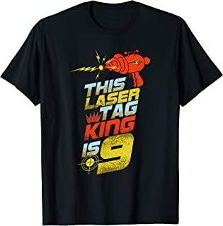 Kids 9 Year Old Laser Tag Birthday Party 9th Gift Shirt