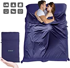 Sleeping Bag Liner, Beauty Star Super Lightweight Single/Double 2 Person Sleeping Bag for Camping, Backpacking, Hiking, Ho...
