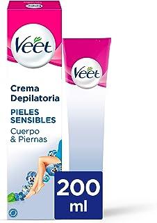 Veet Crema Depilatoria Corporal para Mujer con Aloe Vera y Vitamina E Pieles sensibles 200 ml (106180)