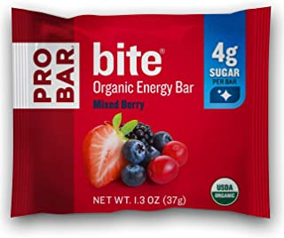 PROBAR - Bite Organic Energy Bar, Mixed Berry, Non-GMO, Gluten-Free, USDA Certified Organic, Healthy, Plant-Based Whole Food Ingredients, Natural Energy (12 Count) Packaging May Vary