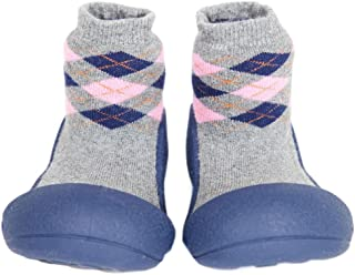 Attipas Argyle Baby Walker Shoes, Navy, X-Large