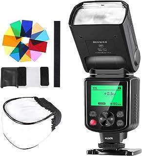 Neewer 750II TTL Flash Speedlite con Difusor Duro 12 Filtros de Color Kit de Limpieza para Nikon D7200 D7100 D7000 D5500 D5300 D5200 D5100 D5000 D3200 y Otras Nikon Cámaras DSLR