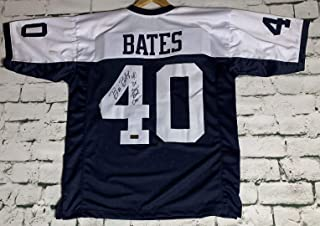 Bill Bates Signed Autographed Dallas Cowboys Blue Football Jersey - RSA Certified