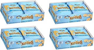 Blue Diamond Mini Nut Thins, Hint of Sea Salt, (Four 6-packs)