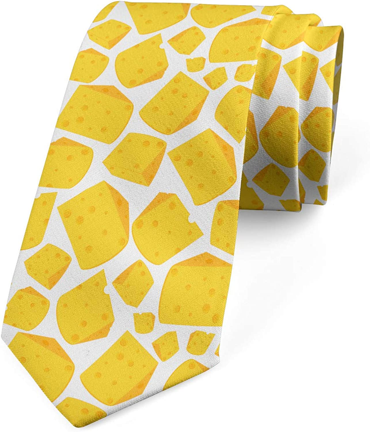Lunarable Necktie, Repetitive Cheese Slices, 3.7