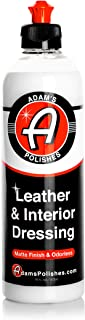 Adam's Leather & Interior Matte Finish Dressing - Conditions & Restores Leather, Vinyl, and Plastic Interior Surfaces - Odorless, Long Lasting UV Protection That Improves Feel Of Your Interior (16 oz)