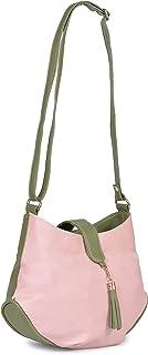 Aisna Women's Divine Sling Bag (ASNB-043)(Pink::Green)