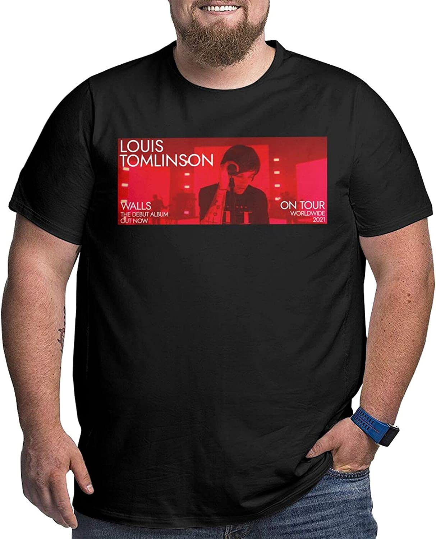 lwufnok Louis Tomlinson Big Size Men's t-Shirt Round Neck Short Sleeve T-Shirt