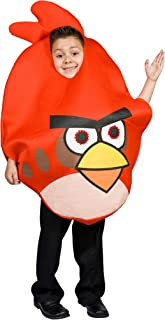 Angry Bird Costume Red for Kids Light up Eyes Size S M 4 5 6 7 8 9