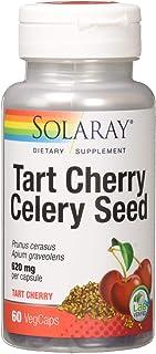 Solaray Tart Cherry & Celery Seed Fruit Extract 620 Mg Multivitamins, 60 Count
