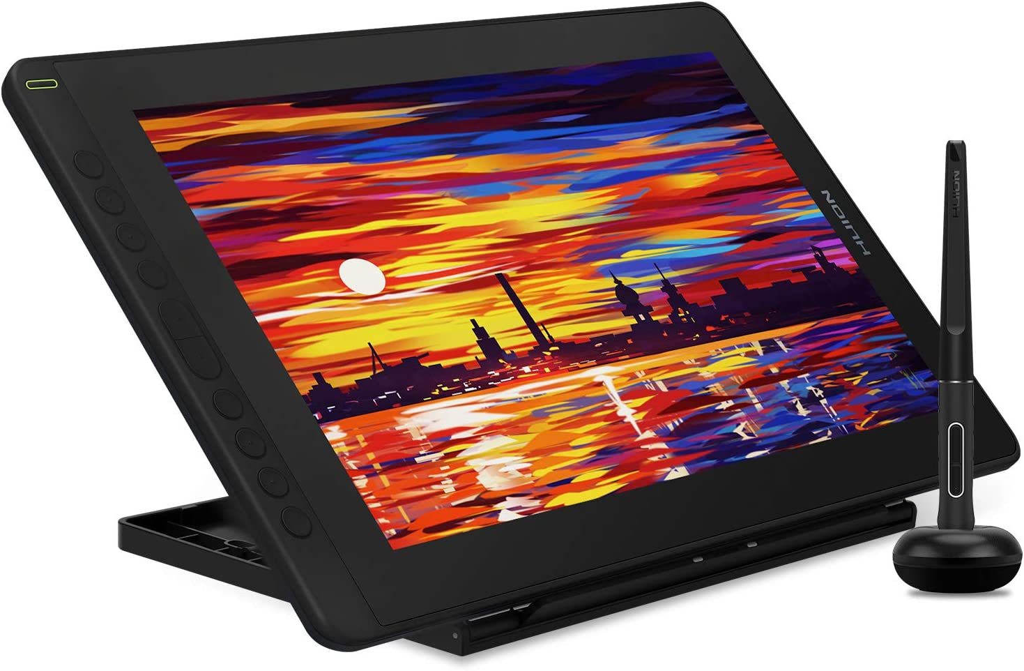 2021 HUION KAMVAS 16 Graphics Drawing Tablet with Full-Laminated Screen Android Support Graphic Monitor Pen Tablet with Battery-Free Stylus Tilt 10 Express Keys Adjustable Stand -15.6 Inch Pen Display