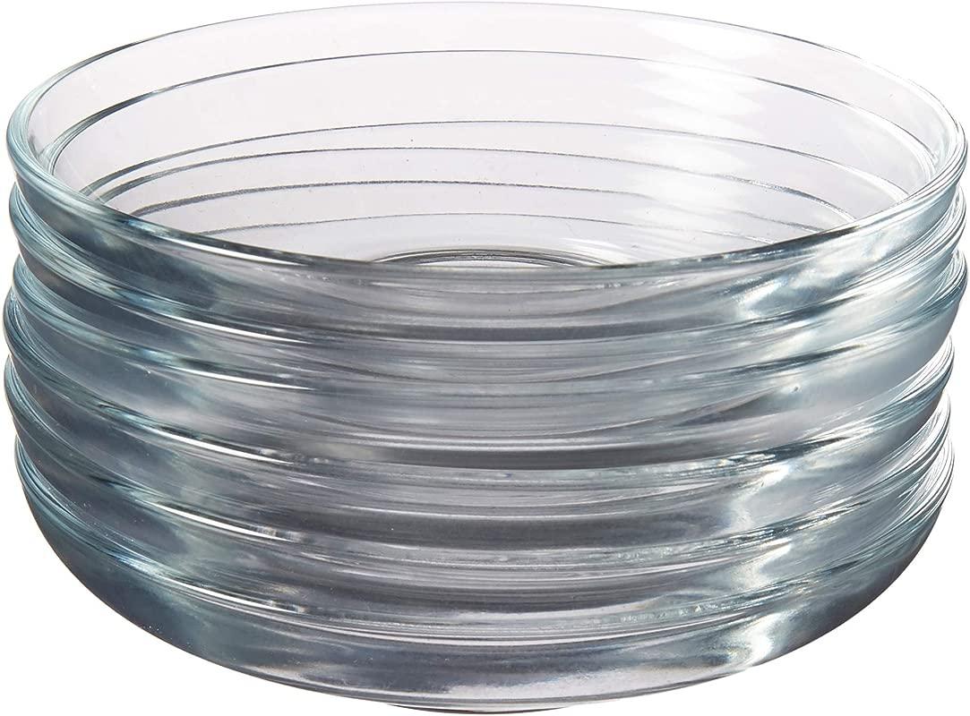 Pasabahce Turkish Glass Saucers Tea Plates