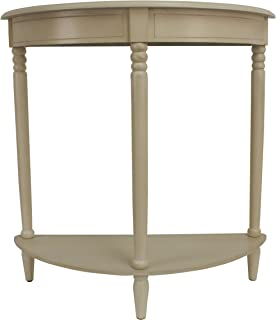Décor Therapy Simplicity Half Round Accent Table, Antique White