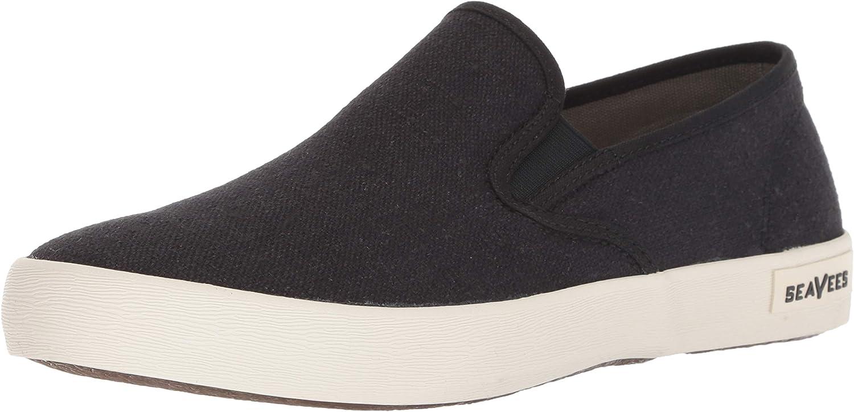 SeaVees Men's Baja Slip On Standard Casual Sneaker,Black,12