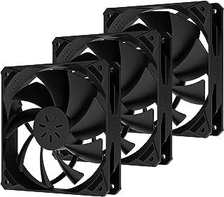upHere Ventilateur PC 120mm PWM pour Boîtier PC D'ordinateur Ultra Silencieux, 3 Pack(NK12BK4)