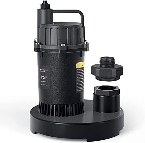 Sump Pump, 1/2 HP 3300GPH Submersible Clean/Dirty Water Pump, for Pond, Garden, Flooded Cellar, Aquarium-TKSUP01A