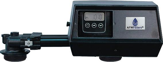AFWFilters 9100sxt Fleck 9100 SXT Digital Water Softener Control Valve Dual Tank Replacement Head, black