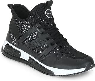 FURO by Redchief Men's Black Walking Sport Shoes (8)
