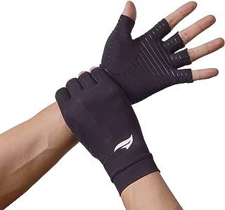 BANILLUE Copper Compression Arthritis Gloves – Best Copper Infused – Breathable Fingerless Glove Hand Wrist Support for Carpal Tunnel, Arthritis, RSI, Tendonitis & Osteoarthritis – Men/Women Pair