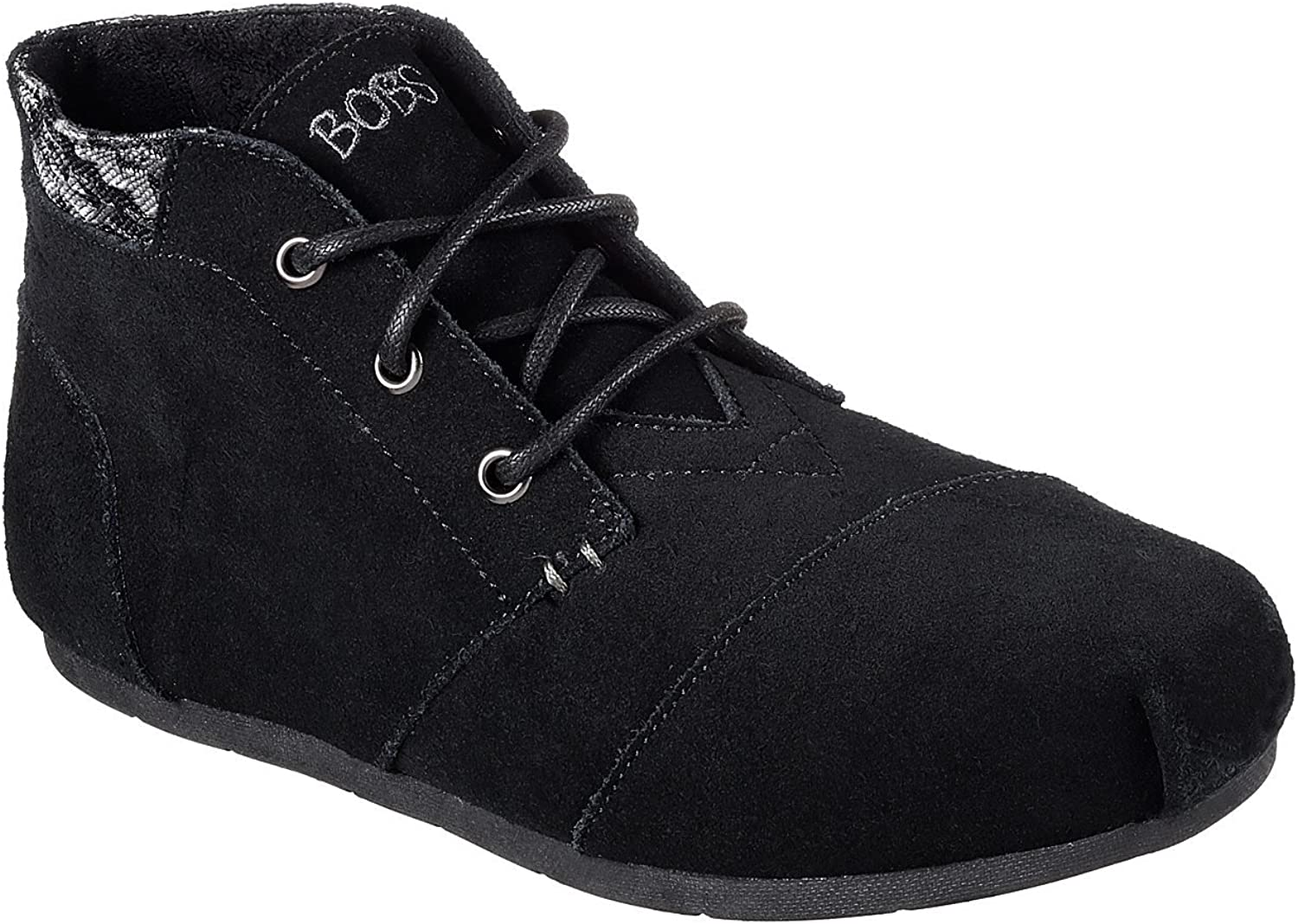 Skechers Luxe BOBS Rustic Sole Womens Lace up Ankle Boots