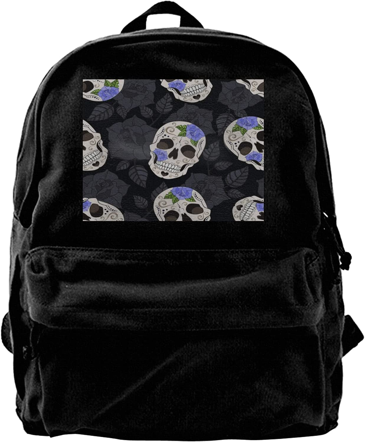 Rose And Sugar Skull Backpack Men Laptop For Seattle Financial sales sale Mall Travel