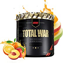 RedCon1 Total War (Newly Formulated) | Pre Workout Energy Powder, Caffeine, Citrulline Malate, Beta-Alanine, Agmatine, Taurine, Caffeine, Nitric Oxide | 30 Serving (Fruit Punch)