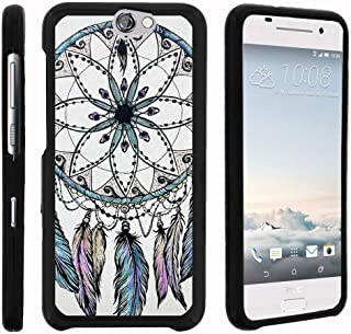 TurtleArmor   Compatible with HTC One A9 Case   HTC Aero Case [Slim Duo] Two Piece Hard Cover Slim Snap On Case on Black - Dreamcatcher Feathers
