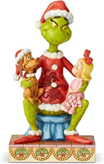 Enesco Grinch by Jim Shore Grinch with Cindy and Max Figurine, 7.09