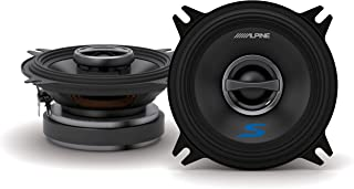 Alpine S-S40 S-Series 4-inch Coaxial 2-Way Speakers (pair) - Contains 4x6