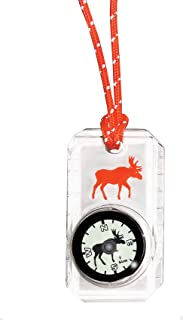 Sun Company Wildlife Compass for Kids - Children's Compasses for Camping, Hiking, and Exploring | Break-Away Neon Lanyard