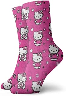 AIMHOUSE, Calcetines de Hello Kitty, unisex, para adultos, informales, con impresión de anime