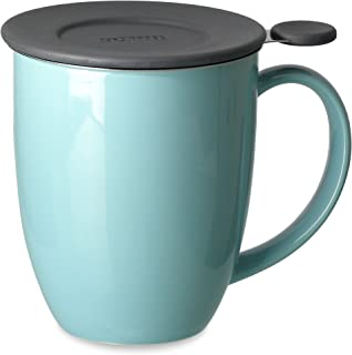 FORLIFE Uni Brew-in-Mug with Tea Infuser and Lid, 16-Ounce, Turquoise